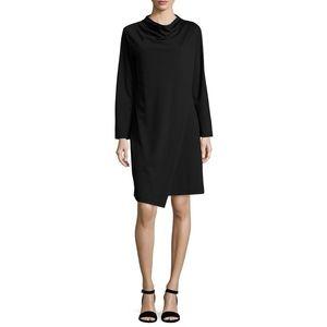 Joan Vas's | Long-Sleeve Drape-Front Knit Dress